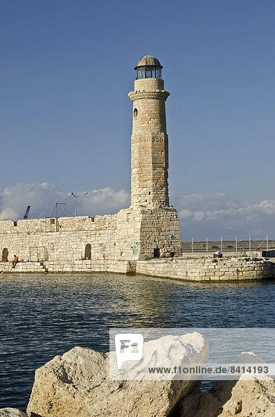 Leuchtturm von Rethymno  Kreta  Griechenland