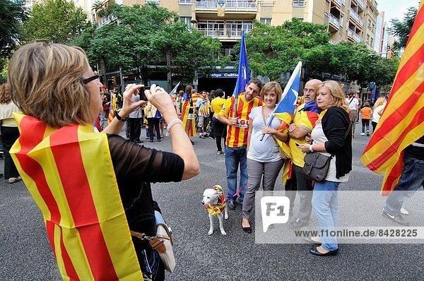 Politiker  Barcelona  Katalonien  Demonstration  Unabhängigkeit  Spanien
