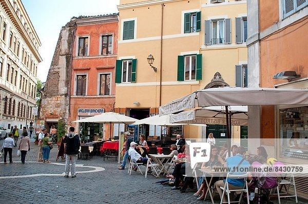 Portikus Rom Hauptstadt Cafe Judentum Ortsteil Ghetto Italien römisch