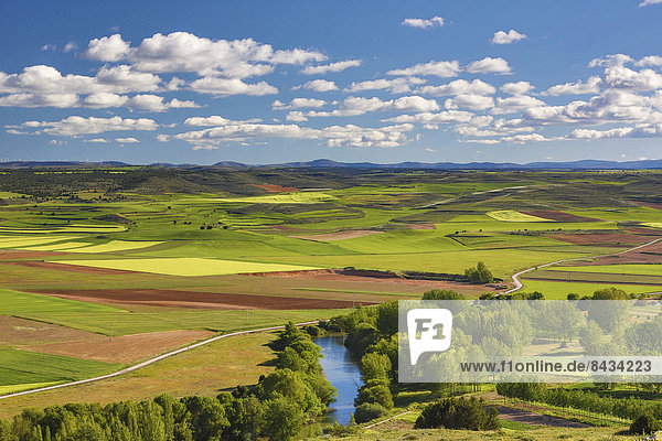 Farbaufnahme  Farbe  Europa  Wolke  Kontrast  Landschaft  Landwirtschaft  Reise  bunt  Fluss  Feld  Tourismus  Soria  Spanien