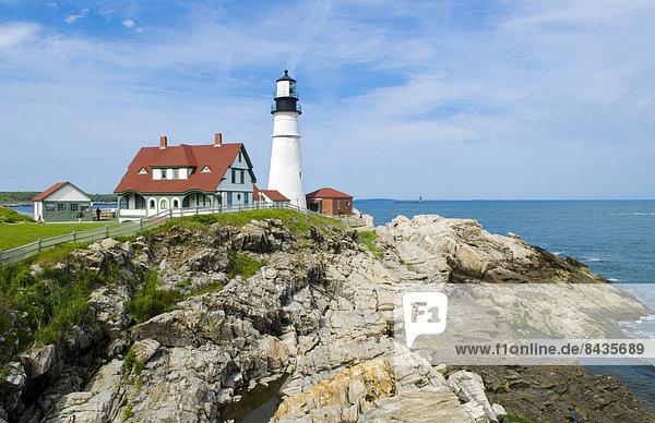 Portland Head Light Lighthouse  Maine  Neuengland  USA