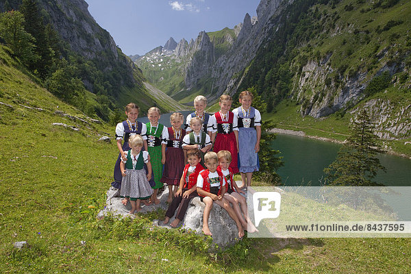 Europa Berg Tradition Party See Alpen Folklore Bergsee Schweiz