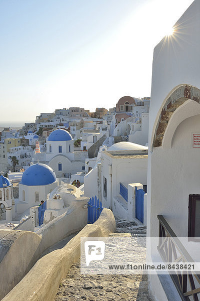 Stufe  Hochformat  Europa  niemand  Reise  Stadt  Architektur  Insel  Griechenland  Santorin  Kykladen  griechisch  Oia  Ia  Thira