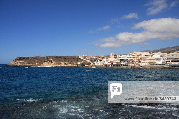 Europa Wohnhaus Gebäude Dorf Kanaren Kanarische Inseln Bucht Spanien Teneriffa