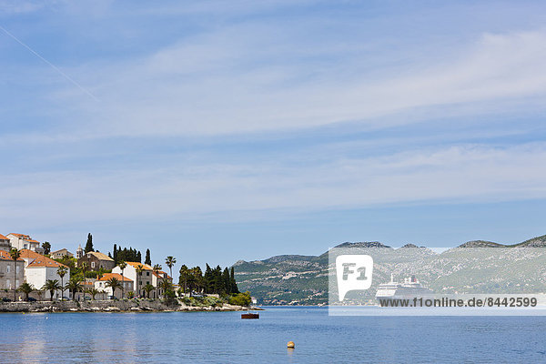 Croatia  Dalmatia  View of Korcula harbour