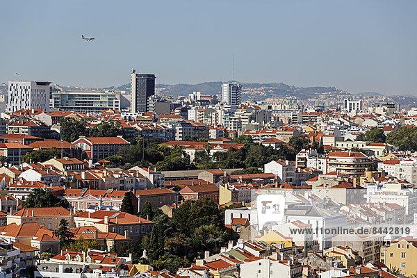 Portugal  Lissabon  Miradouro de Nossa Senhora do Monte  Blick über die Stadt