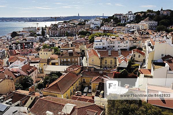 Portugal  Lissabon  Alfama  Blick über die Stadt