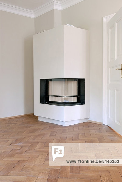 Germany  Fireplace in empty room