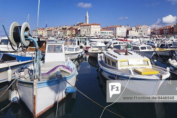 Hafen Europa Stadt Kathedrale Adriatisches Meer Adria Kroatien Istrien alt Rovinj