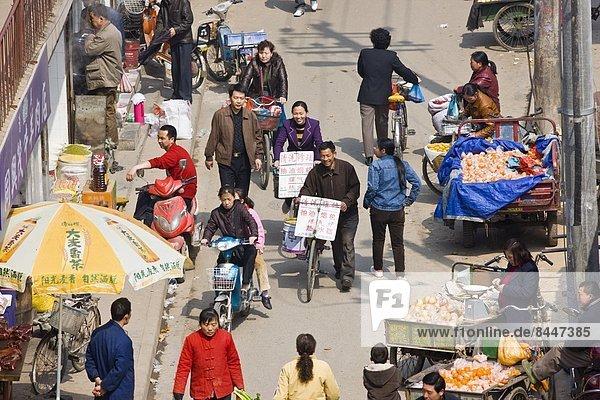 Stadtmauer  sehen  Tradition  Straße  chinesisch  China  Markt  Xian