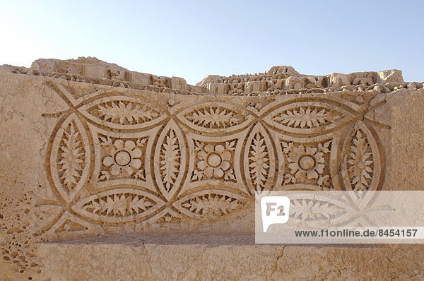 Unvollendetes Relief  antike Stadt Palmyra  Palmyra-Bezirk  Gouvernement Homs  Syrien