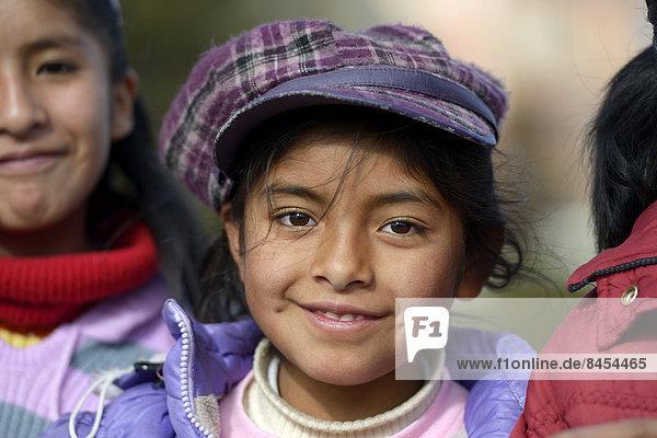 Girl  portrait  El Alto  Department of La Paz  Bolivia