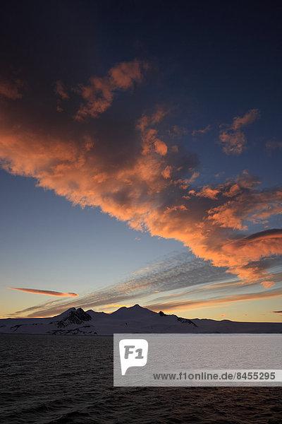 Abendrot  Wolkenformation  Weddell-Meer  Antarktis