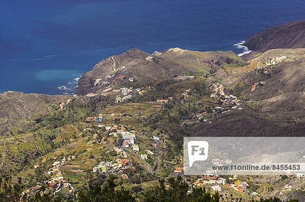 Tal Meer Ansicht Kanaren Kanarische Inseln La Gomera Spanien