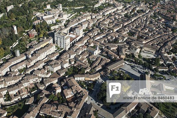 Stadt Geschichte Platz Gubbio Italien Umbrien