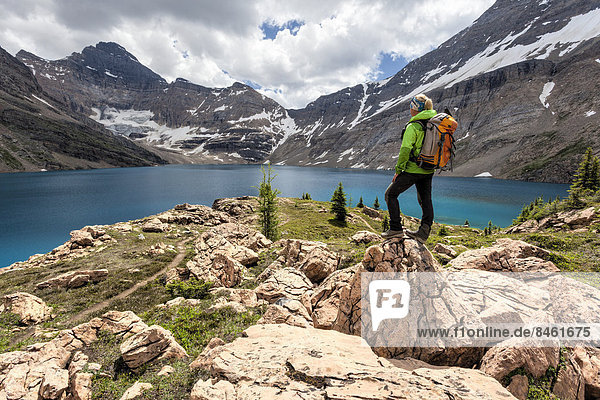 Wanderin am Lake McArthur  Yoho-Nationalpark  British Columbia  Kanada