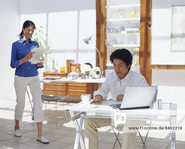 Interior  zu Hause  Büro Heimarbeitsplatz