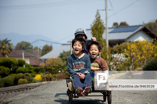 Japanese kids in the countryside