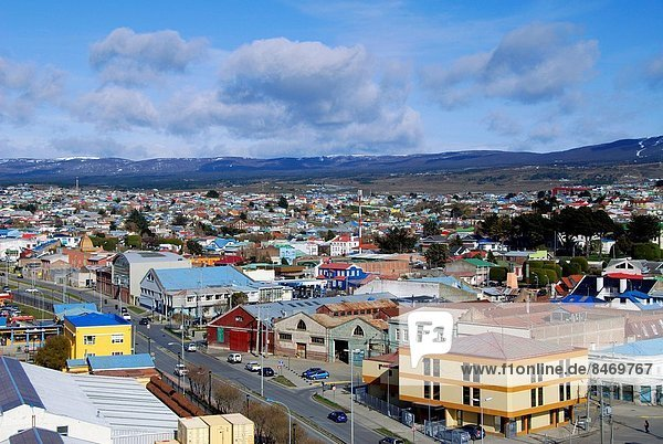 Panoramic view of the city of Punta Arenas Patagonia Chile