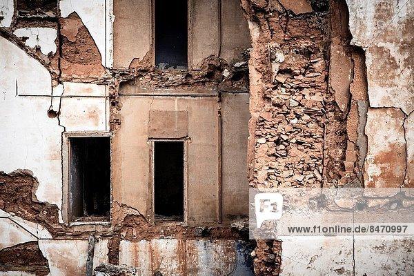 Ruine Dorf Krieg Vernichtung Aragonien alt Spanien spanisch Zaragoza