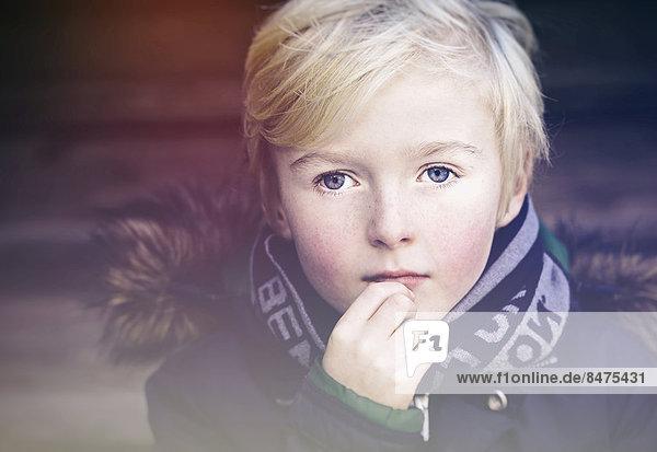 Junge  7 Jahre  Portrait Junge, 7 Jahre, Portrait