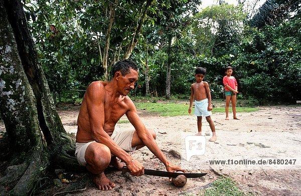 Mann  Belem  Brasilien  Südamerika