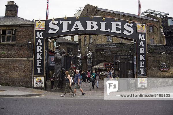 Former horse market  Stables Market  London  England  United Kingdom