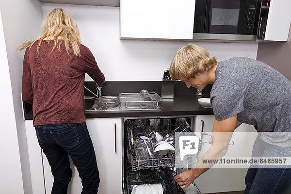Zusammenhalt Europäer arbeiten Küche