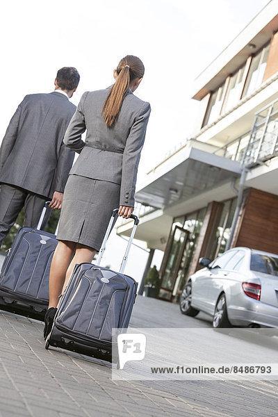 Rückansicht  gehen  Gepäck  Ansicht  Fahrweg  Business