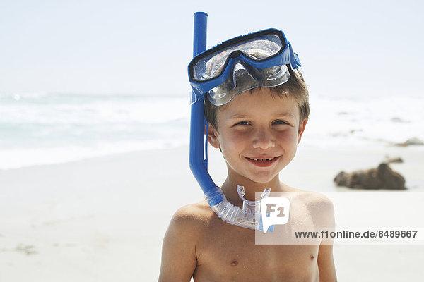 Strand  Junge - Person  Schnorchel