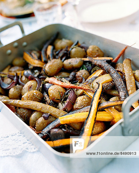 Close-up of roasted vegetable