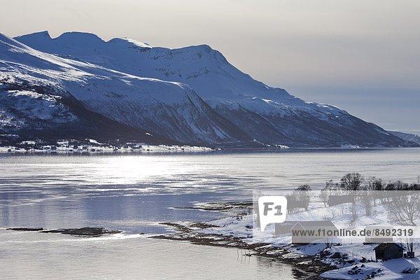 Kreis  Norwegen  Insel  Alpen  Norden  Ansicht  Geräusch  Lyngen  Arktis  Tromso