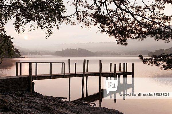 Tranquil lake  Cumbria  England  UK