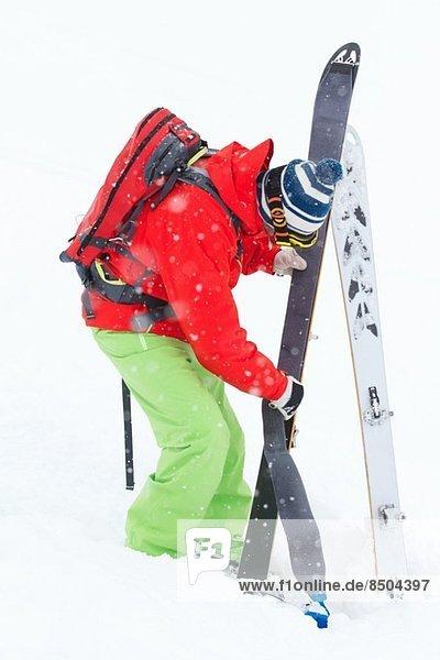 Skitouren-Mann  Kuhtai  Tirol  Österreich