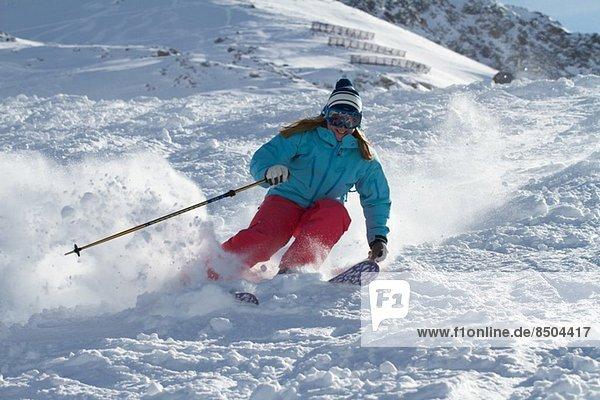 Skifahren in Kuhtai  Tirol  Österreich