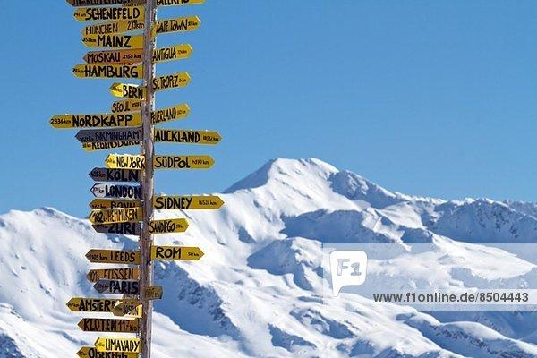 Reisezeichen in Davos  Schweiz