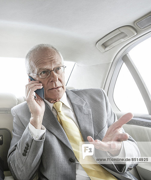 Europäer  sprechen  Geschäftsmann  Auto  Telefon  Handy