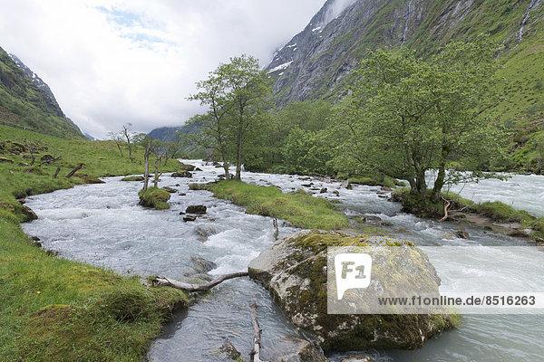 Natürliches Flusstal  Fluss Driva  Sunndal-Tal  Norwegen