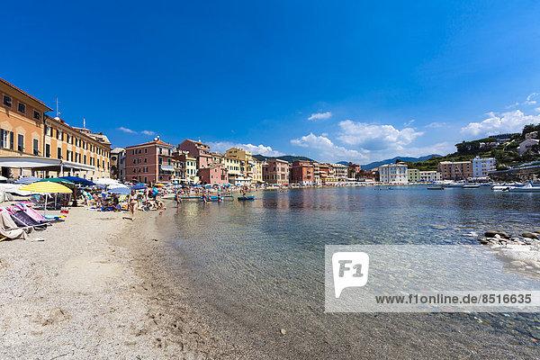 Freibad Cinque Terre Italien Strandbad Ligurien Sestri Levante Provinz Genua