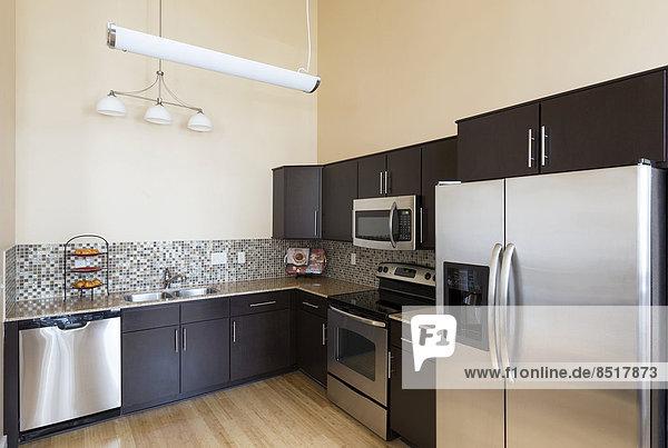 Küche Kühlschrank Tresen modern