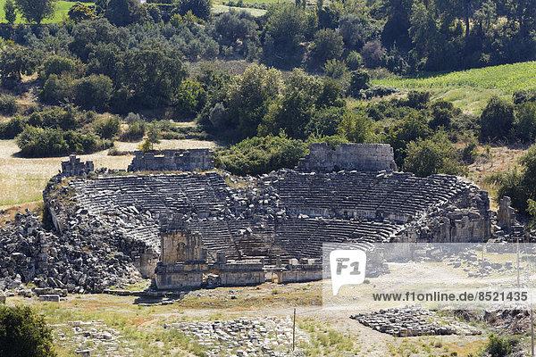 Türkei  Lykien  Antike Stadt Tlos  Theater