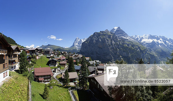 Schweiz  Berner Oberland  Murren  Blick auf den Eiger