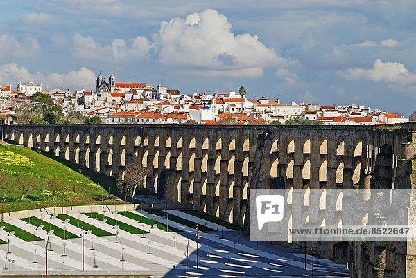 Aqueduct of Amoreira. Elvas. Alentejo. Portugal