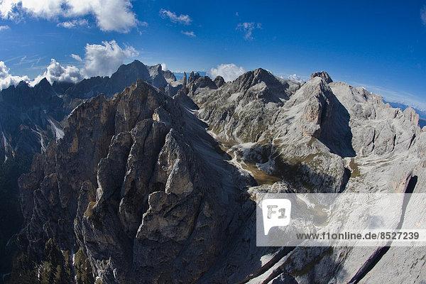 Rosengartengruppe  Crepe di Lausa  Vajolettürme  Vajoletspitze  Rosengartenspitze  Dolomiten  Trentino  Italien