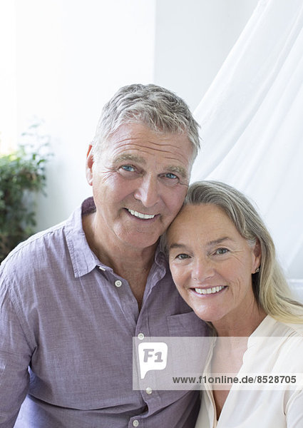 Seniorenpaar lächelnd
