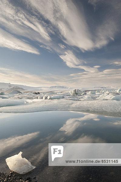 Gletscherlagune Jökulsárlón  Südosten  Island
