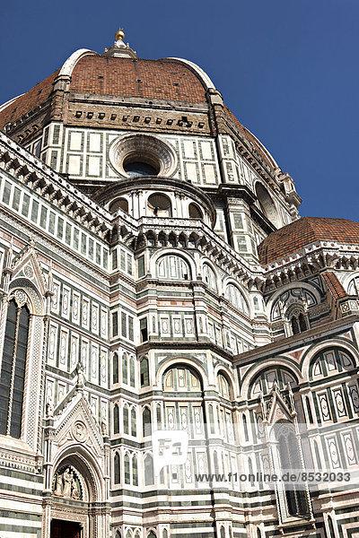 Kathedrale von Florenz  Duomo Santa Maria del Fiore mit der Kuppel von Brunelleschi  UNESCO-Weltkulturerbe  Florenz  Toskana  Italien