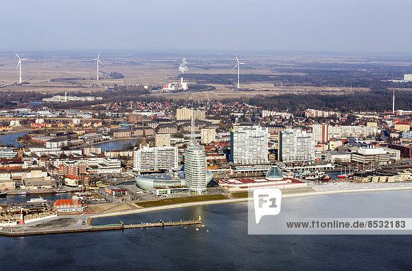 Einkaufszentrum Mediterraneo  Atlantic Hotel Sail City  Klimahaus Bremerhaven  Columbus-Center  Havenwelten  Weser  Helgolandkaje  Bremerhaven  Bremen  Deutschland