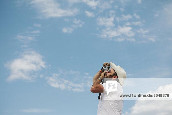 Mann  Fotografie  nehmen  Wolke  Himmel