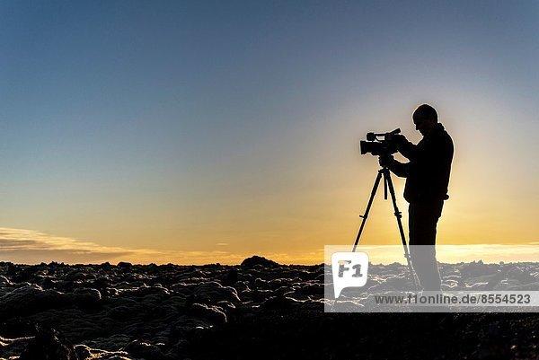Silhouette  Küste  Fotograf  Island